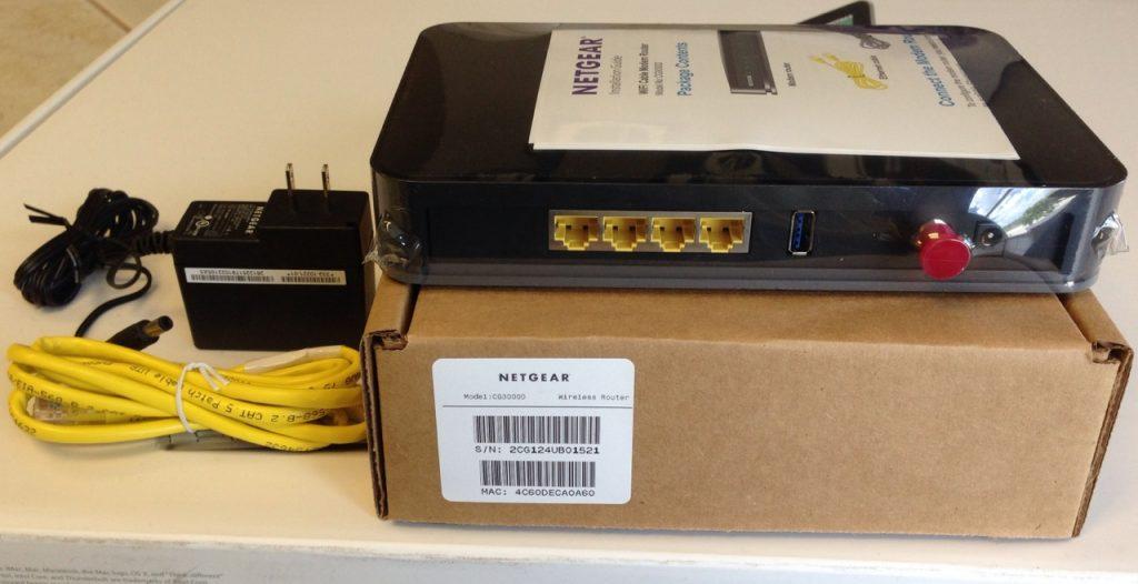 Netgear Cg3000d wireless cable modem router